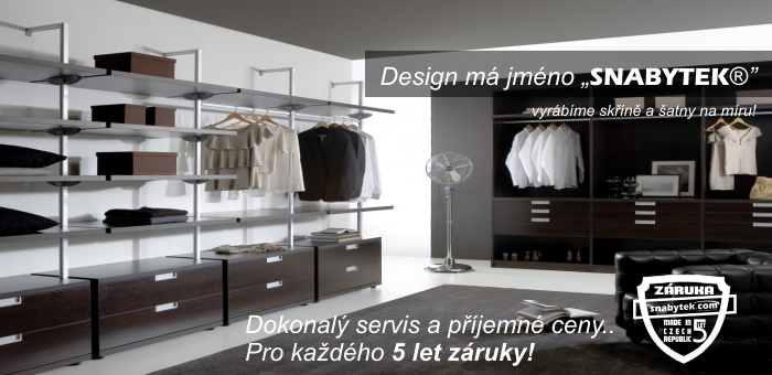 luxusní šatna