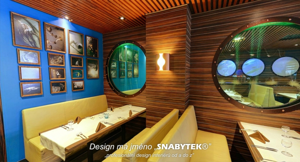 realizace luxusní restaurace Poseidon